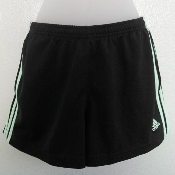 adidas Pants - ADIDAS Black and Blue Stripe Athletic Shorts